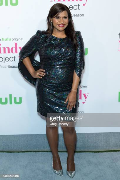 """Actress Mindy Kaling arrives for Hulu's """"The Mindy Project"""" Final Season Premiere Party at The London West Hollywood on September 12, 2017 in West..."""