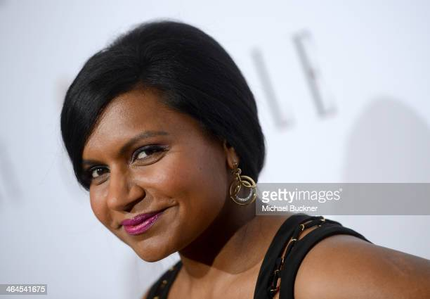 Actress Mindy Kaling attends ELLE's Annual Women in Television Celebration on January 22 2014 in West Hollywood California
