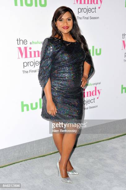 Actress Mindy Kaling attends Hulu's 'The Mindy Project' final season premiere party at The London West Hollywood on September 12 2017 in West...