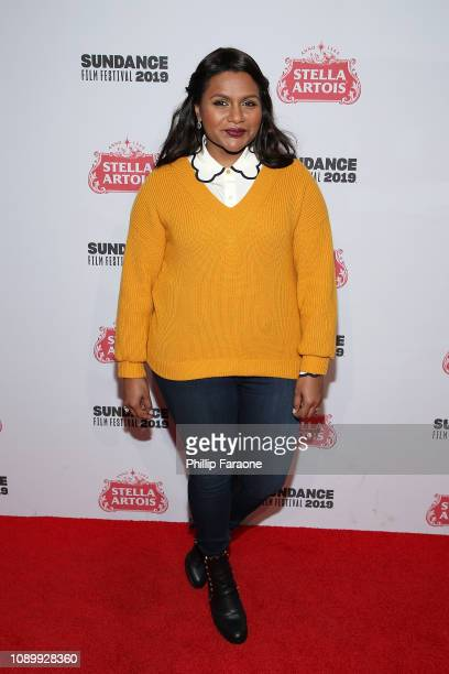 Actress Mindy Kaling attends Stella Artois Deadline Sundance Series at Stella's Film Lounge A Live QA with The Filmmakers of Late Night at Stella's...