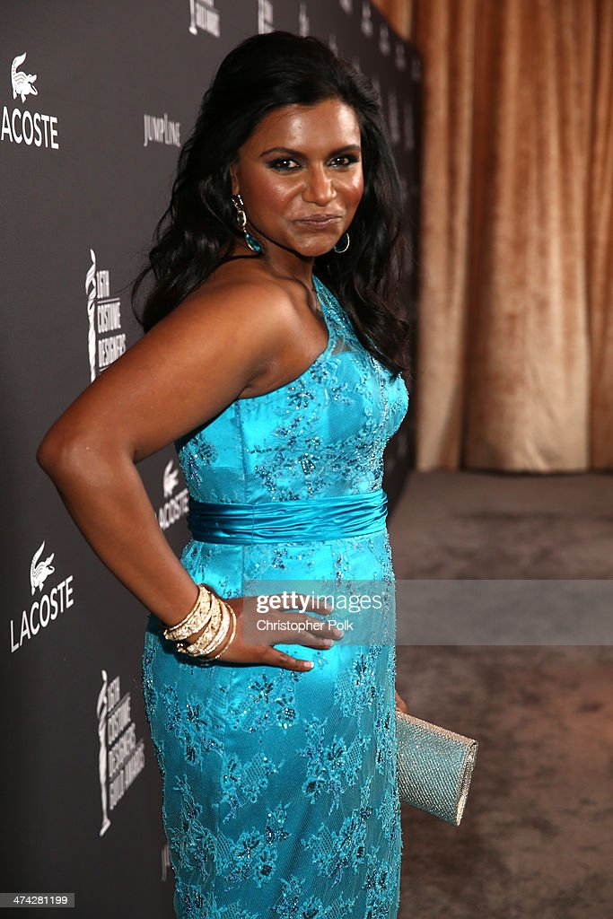 Actress Mindy Kaling attends the 16th Costume Designers Guild Awards with presenting sponsor Lacoste at The Beverly Hilton Hotel on February 22, 2014 in Beverly Hills, California.