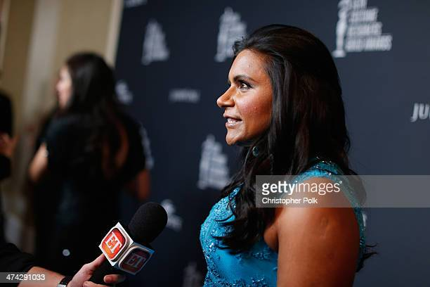Actress Mindy Kaling attends the 16th Costume Designers Guild Awards with presenting sponsor Lacoste at The Beverly Hilton Hotel on February 22 2014...