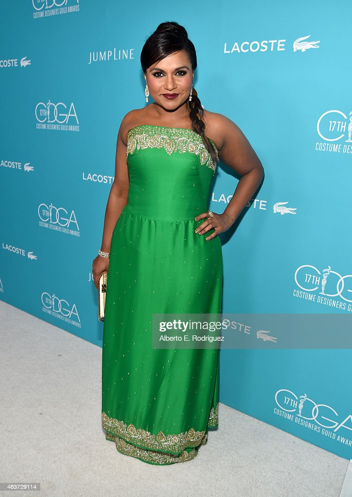 Actress Mindy Kaling attends the 17th Costume Designers Guild Awards with presenting sponsor Lacoste at The Beverly Hilton Hotel on February 17, 2015 in Beverly Hills, California.