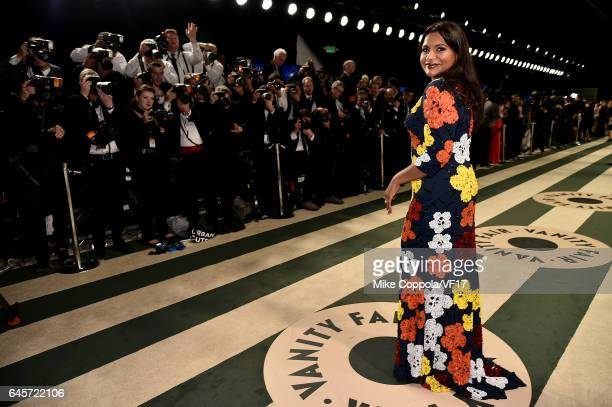 Actress Mindy Kaling attends the 2017 Vanity Fair Oscar Party hosted by Graydon Carter at Wallis Annenberg Center for the Performing Arts on February...