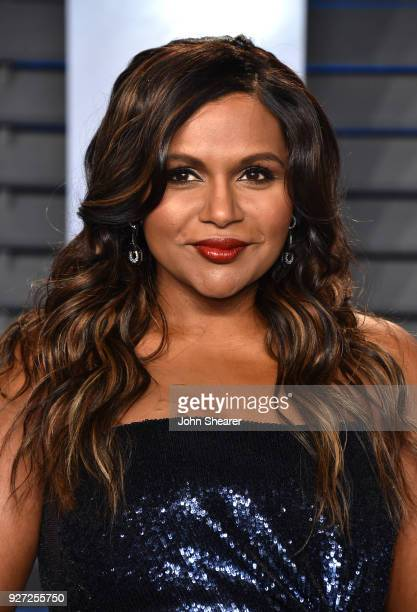Actress Mindy Kaling attends the 2018 Vanity Fair Oscar Party hosted by Radhika Jones at Wallis Annenberg Center for the Performing Arts on March 4,...