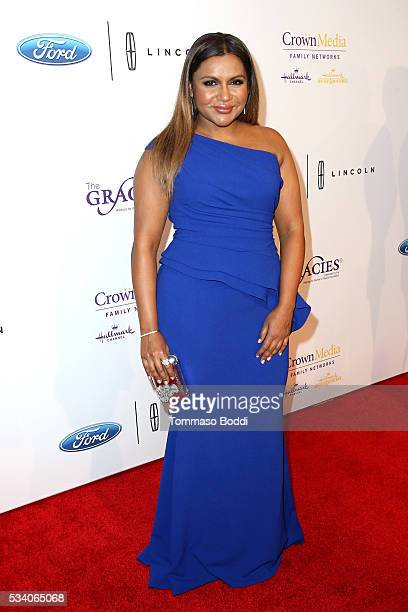 Actress Mindy Kaling attends the 41st Annual Gracie Awards at Regent Beverly Wilshire Hotel on May 24 2016 in Beverly Hills California