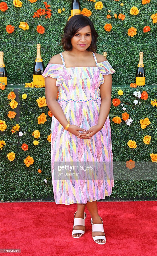 Actress Mindy Kaling attends the 8th Annual Veuve Clicquot Polo Classic at Liberty State Park on May 30, 2015 in Jersey City, New Jersey.