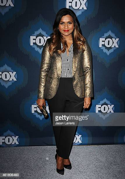 Actress Mindy Kaling attends the FOX winter TCA AllStar party at Langham Hotel on January 17 2015 in Pasadena California