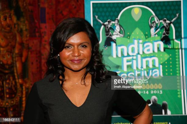 Actress Mindy Kaling attends the Indian Film Festival Of Los Angeles 6th Annual Industry Leadership Awards at House of Blues on April 11 2013 in West...