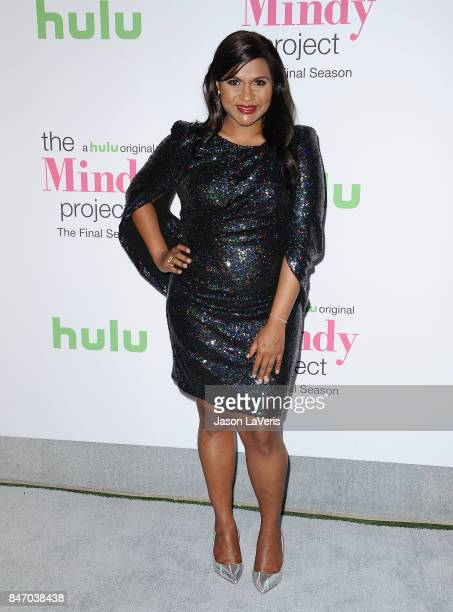 Actress Mindy Kaling attends 'The Mindy Project' final season premiere party at The London West Hollywood on September 12 2017 in West Hollywood...
