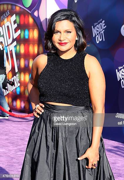 Actress Mindy Kaling attends the premiere of DisneyPixar's 'Inside Out' at the El Capitan Theatre on June 8 2015 in Hollywood California