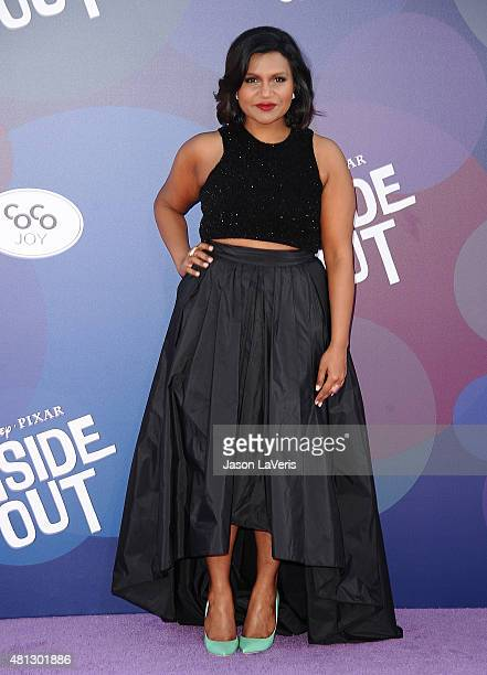 Actress Mindy Kaling attends the premiere of 'Inside Out' at the El Capitan Theatre on June 8 2015 in Hollywood California