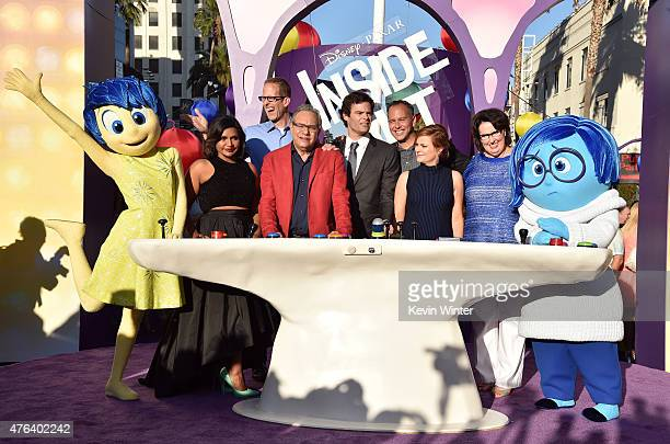 Actress Mindy Kaling director Pete Docter actor Lewis Black actor Bill Hader producer Jonas Rivera actress Amy Poehler and actress Phyllis Smith...