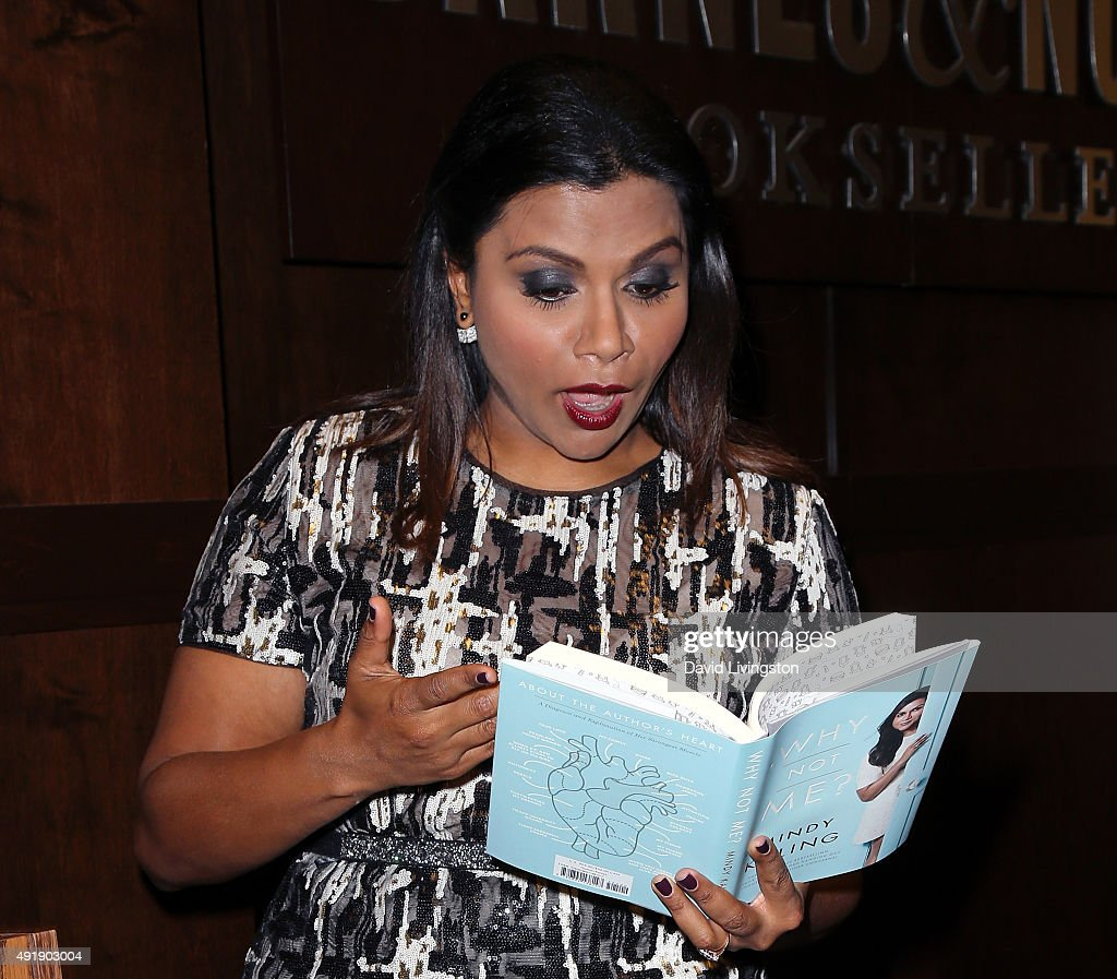 """Mindy Kaling Discusses And Signs Her New Book """"Why Not Me?"""" : News Photo"""