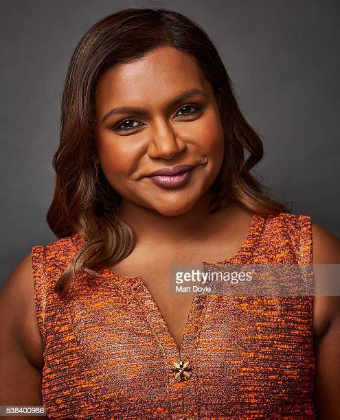 Actress Mindy Kaling is photographed at the Hulu UpFront for TV Guide Magazine on May 4 2016 in New York City