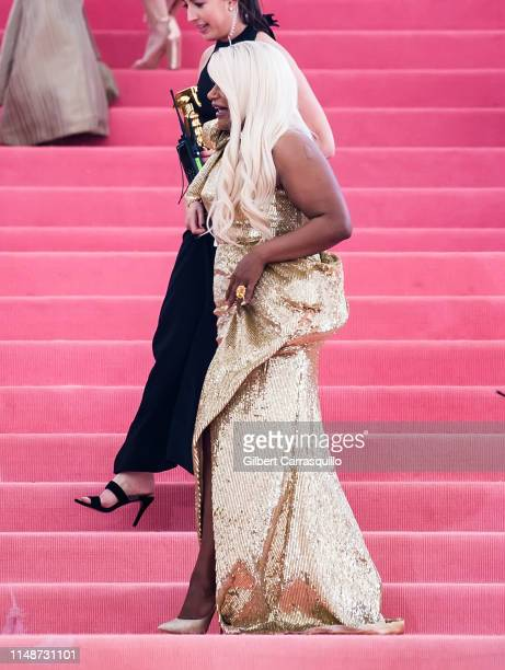 Actress Mindy Kaling is seen arriving to the 2019 Met Gala Celebrating Camp Notes on Fashion at The Metropolitan Museum of Art on May 6 2019 in New...