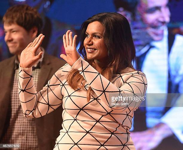 Actress Mindy Kaling onstage during FOX presents The Mindy Project Screening during aTVfest presented by SCAD on February 7 2015 at SCADshow in...