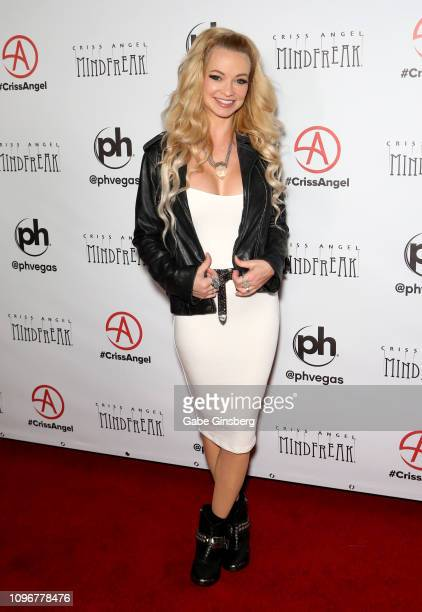 Actress Mindy Robinson attends the grand opening of 'Criss Angel MINDFREAK' at Planet Hollywood Resort Casino on January 19 2019 in Las Vegas Nevada