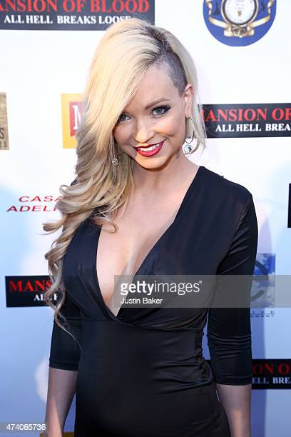 Actress Mindy Robinson attends the Mansion Of Blood premiere and awards ceremony at American Cinematheque's Egyptian Theatre on May 19 2015 in...