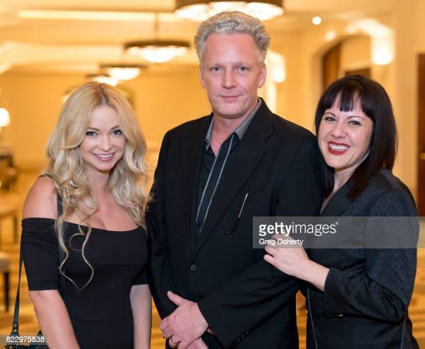 Actress Mindy Robinson Author Thomas Warming and Maya Sloan attend TheGrill Special Event With Charlie Collier Of AMC Networks And Special Guest...