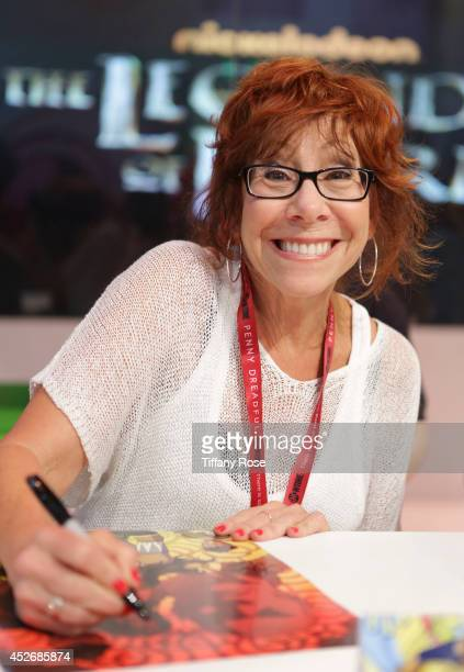 Actress Mindy Sterling signs autographs at the Legend of Korra signing at the 2014 San Diego ComicCon International Day 3 on July 25 2014 in San...