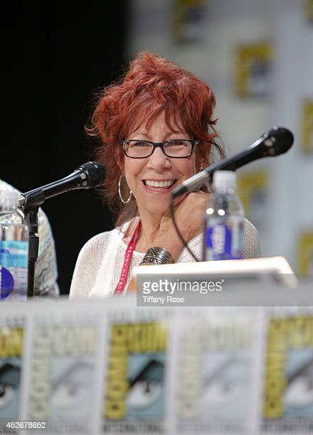 Actress Mindy Sterling speaks at the Legend of Korra panel at the 2014 San Diego ComicCon International Day 3 on July 25 2014 in San Diego California