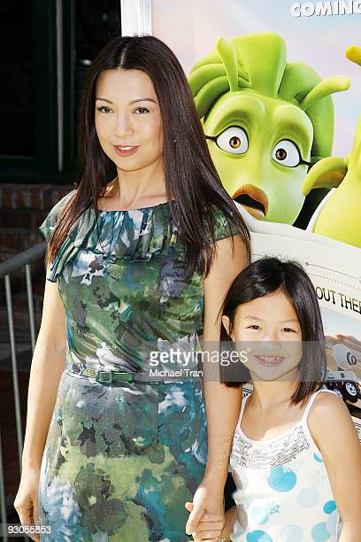 """Actress Ming-Na and her daughter arrive to the Los Angeles premiere of """"Planet 51"""" held at the Mann Village Theatre on November 14, 2009 in Westwood,..."""