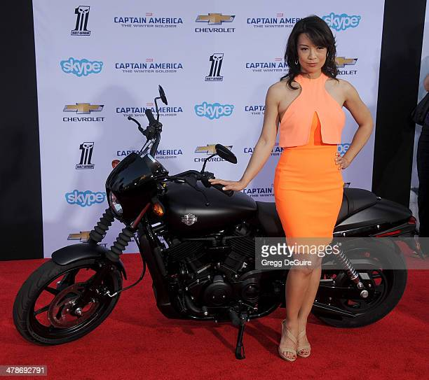 Actress MingNa Wen arrives at the Los Angeles premiere of 'Captain America The Winter Soldier' at the El Capitan Theatre on March 13 2014 in...