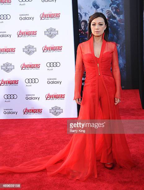 Actress MingNa Wen arrives at the Premiere Of Marvel's 'Avengers Age Of Ultron' at the Dolby Theatre on April 13 2015 in Hollywood California