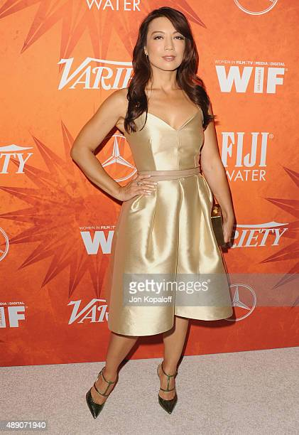 Actress Ming-Na Wen arrives at the Variety And Women In Film Annual Pre-Emmy Celebration at Gracias Madre on September 18, 2015 in West Hollywood,...