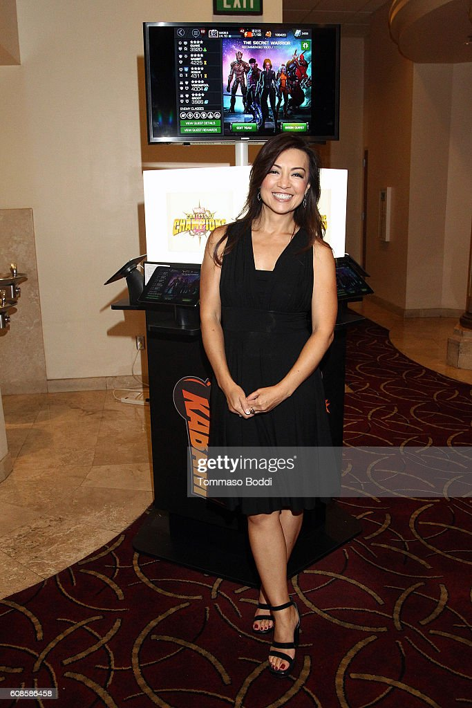 Actress Ming-Na Wen attends Marvel Contest Of Champions at 'Marvel Agents of S.H.I.E.L.D.' season 4 premiere held at Pacific Theatre at The Grove on September 19, 2016 in Los Angeles, California.