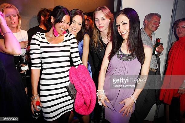 Actress MinhKhai PhanThi actress Nadine Warmuth actress Simone Hanselmann and tv host Anastasia Zampounidis attend the 'new faces award 2010' at cafe...