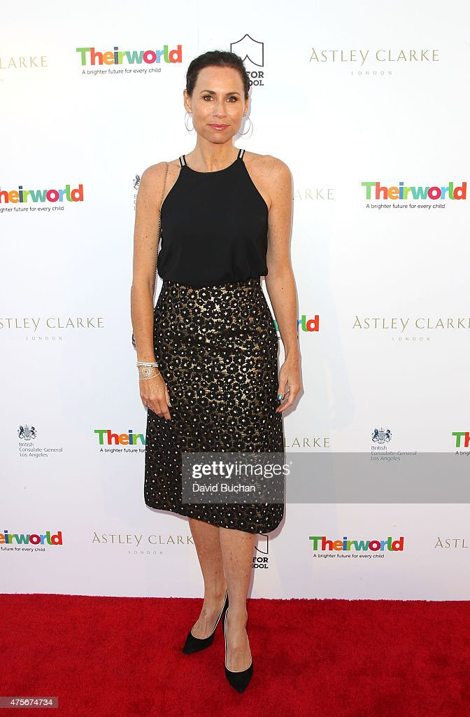 Actress Mini Driver attend the Theirworld & Astley Clarke summer reception in celebration of charitable partnership at the private residence of the British Consul General in Los Angeles on June 2, 2015 in Los Angeles, California.