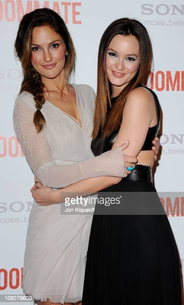 """Actress Minka Kelly and Leighton Meester arrive at the Los Angeles Premiere """"The Roommate"""" at Soho House on January 23, 2011 in West Hollywood,..."""