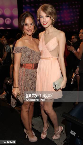 Actress Minka Kelly and singer taylor Swift attend the 2011 People's Choice Awards at Nokia Theatre L.A. Live on January 5, 2011 in Los Angeles,...