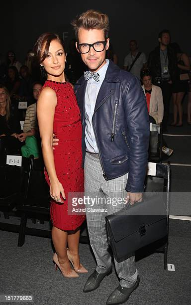 Actress Minka Kelly and stylist Brad Goreski attend TRESemme at Jenny Packham Spring 2013 MercedesBenz Fashion Week at The Studio at Lincoln Center...