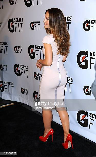 Actress Minka Kelly arrives at Gatorade's G Series Fit Launch Party at the SLS Hotel on April 12 2011 in Los Angeles California