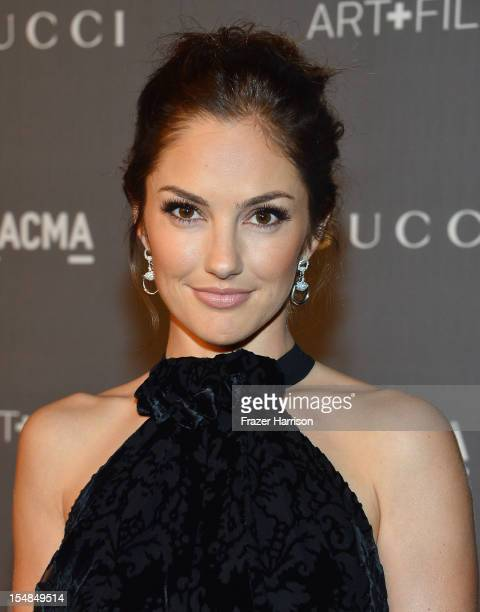 Actress Minka Kelly arrives at LACMA 2012 Art + Film Gala Honoring Ed Ruscha and Stanley Kubrick presented by Gucci at LACMA on October 27, 2012 in...