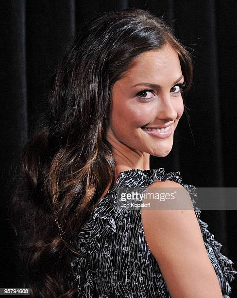 Actress Minka Kelly arrives at the DIC/InStyle's 9th Annual Awards Season Diamond Fashion Show Preview at Beverly Hills Hotel on January 14 2010 in...