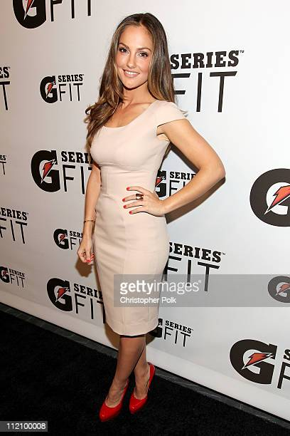 Actress Minka Kelly arrives at the Gatorade Launch Event at SLS Hotel on April 12, 2011 in Beverly Hills, California.