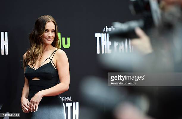 Actress Minka Kelly arrives at the premiere of Hulu's 'The Path' at the ArcLight Hollywood on March 21 2016 in Hollywood California