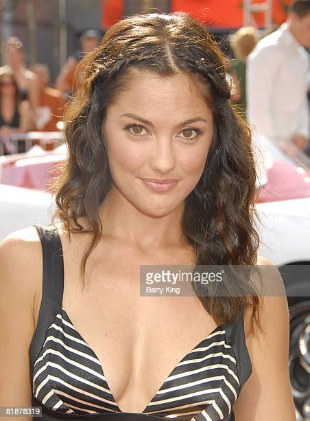 Actress Minka Kelly arrives at the premiere of Speed Racer on April 26 2008 at the Nokia Theater in Los Angeles California