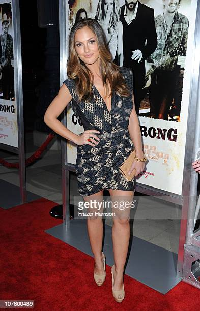 Actress Minka Kelly arrives at the screening of Screen Gems' 'Country Strong' at The Academy of Motion Picture Arts & Sciences on December 14, 2010...