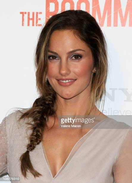 "Actress Minka Kelly arrives at the Screening Of Screen Gems' ""The Roommate"" on January 23, 2011 in West Hollywood, California."