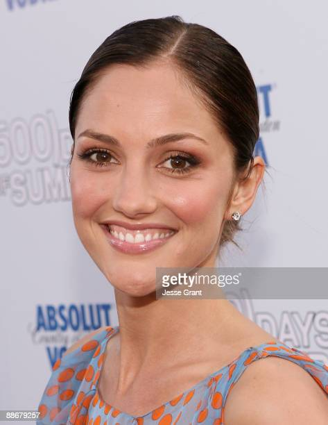 Actress Minka Kelly arrives on the red carpet of the Los Angeles premiere of ' Days Of Summer' at the Egyptian Theatre on June 24 2009 in Hollywood...