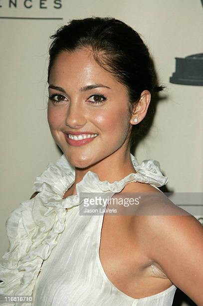 Actress Minka Kelly at An Evening with Friday Night Lights at the Leonard Goldenson Theater on January 31 2008 in North Hollywood California