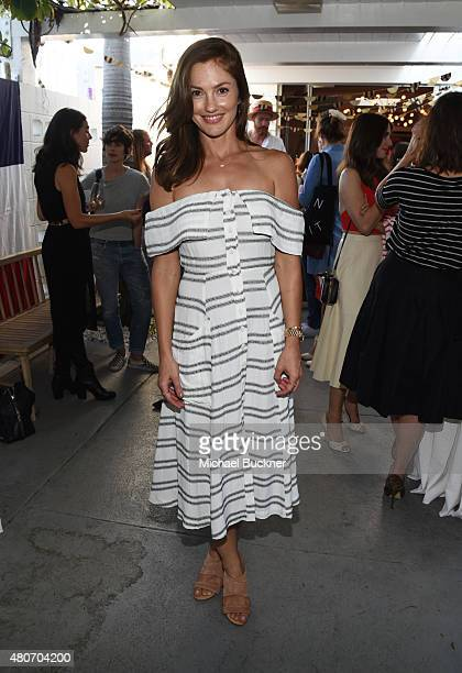 Actress Minka Kelly attends a celebration with STRIIIKE and Caudalie for The French Beauty Solution on Bastille Day at STRIIIKE on July 14 2015 in...
