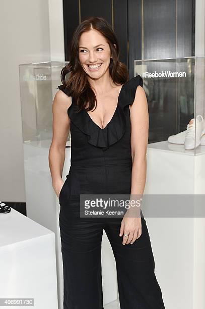 Actress Minka Kelly attends Miranda Kerr hosts Reebok Women luncheon celebrating inspirational women in fashion and fitness at The London Hotel on...