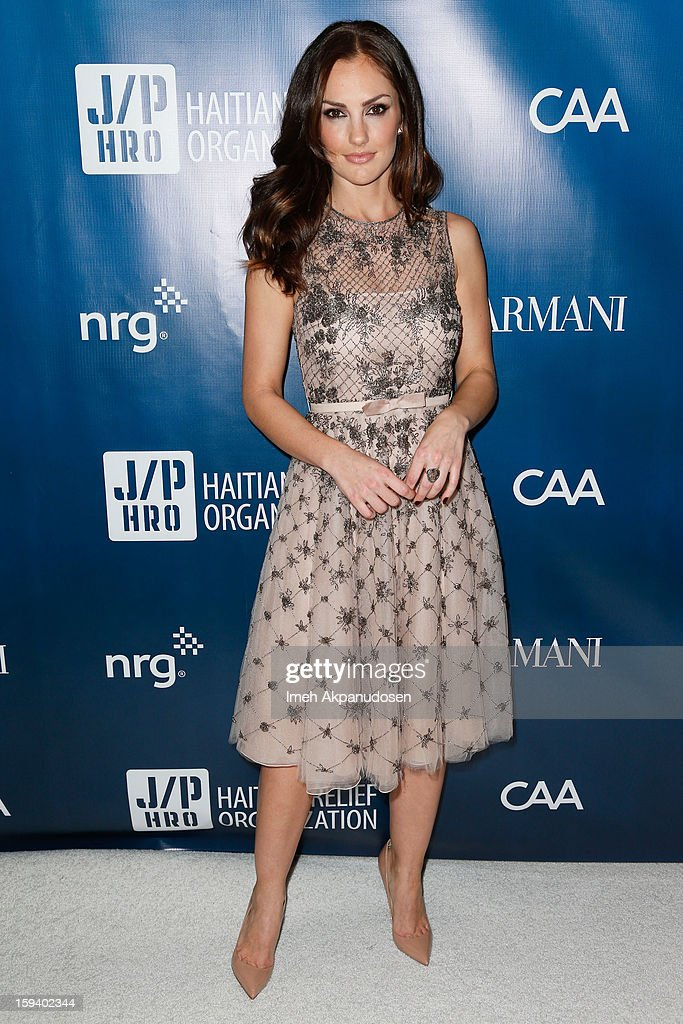 Actress Minka Kelly attends the 2nd Annual Sean Penn and Friends Help Haiti Home Gala benefiting J/P HRO presented by Giorgio Armani at Montage Hotel on January 12, 2013 in Los Angeles, California.