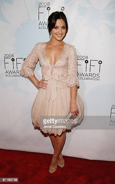 Actress Minka Kelly attends the 36th Annual FIFI Awards presented by the Fragrance Foundation at the Park Avenue Armory on May 20, 2008 in New York...